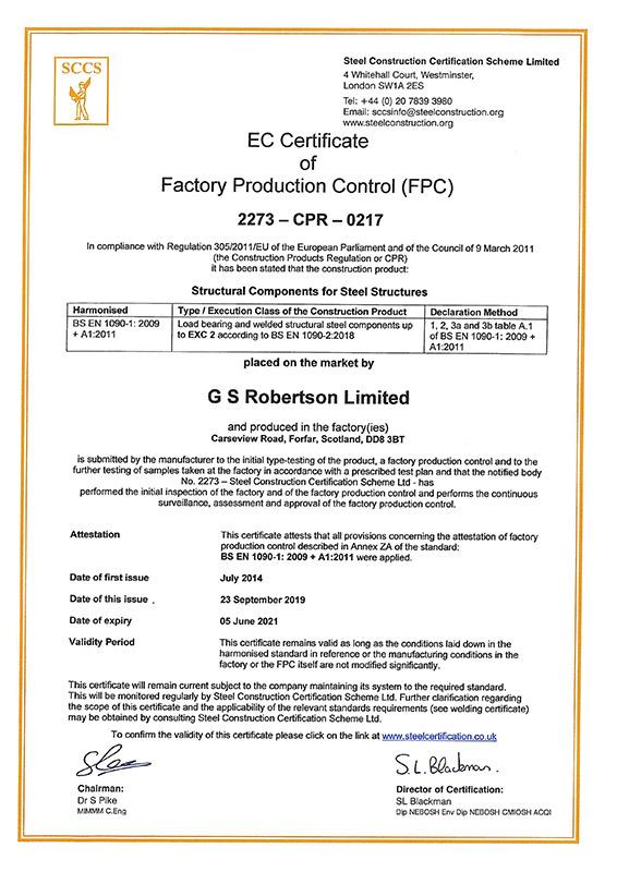 Sccs Certification Gs Robertson