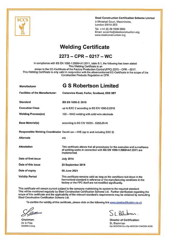 welding-certificate » GS Robertson